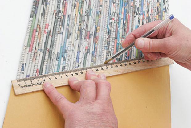 Porta Garrafas Passo Reciclado 8 Porta garrafa de jornal passo a passo