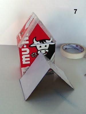 Casa de Passarinho 8 Como fazer casinha de passarinho com caixa de leite