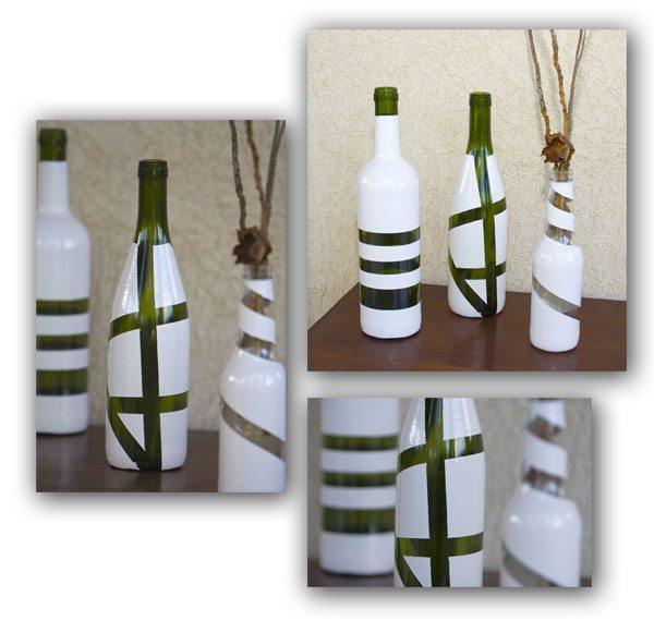 Garrafas Decoradas 1 Como reciclar garrafas de vidro