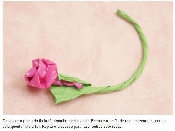 Passo a passo para o Dia das Mães 5 Bouquet de flores com bombom passo a passo