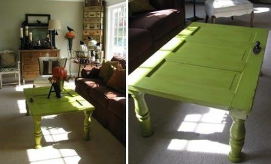 Como fazer mesa com material recicl vel artesanato passo for Como hacer una puerta con tarimas
