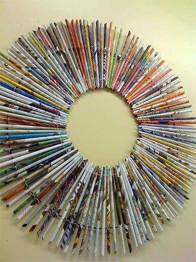 Artesanato Nomes Lojas ~ Como fazer moldura de papel para quadro Artesanato Passo a Passo!