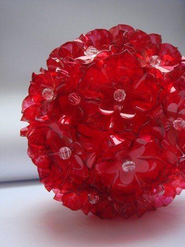 Bolas de garrafa pet passo a passo artesanato passo a passo for Bolas de navidad recicladas