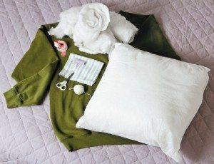 Materiais para fazer a cama para cachorro(Foto:Divulgação).