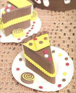 EVA Como fazer fatia de bolo em EVA