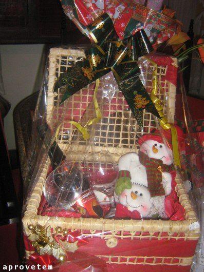 Excepcional Como fazer cestas de Natal baratas - Artesanato Passo a Passo! GN41