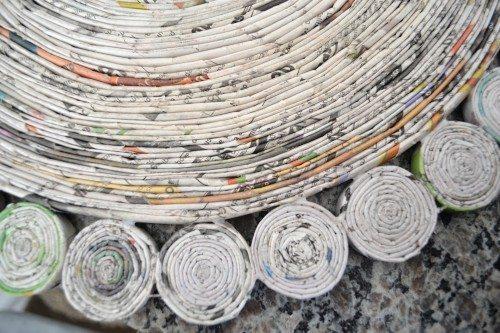 MANDALA DE JORNAL Mandala feita de jornal passo a passo