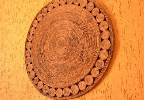 mandala como fazer Mandala feita de jornal passo a passo