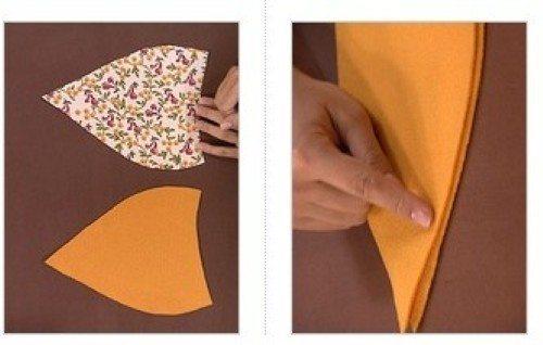 029f1cb8e1 Como fazer boina de tecido passo a passo - Artesanato Passo a Passo!