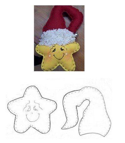 ESTRELA DE NATAL Molde de estrela de Natal de EVA
