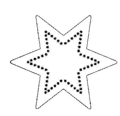 ESTRELA Molde de estrela de Natal de EVA