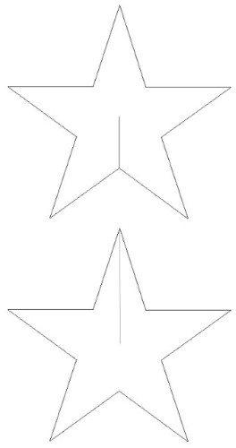 MOLDE ESTRELA EVA Molde de estrela de Natal de EVA