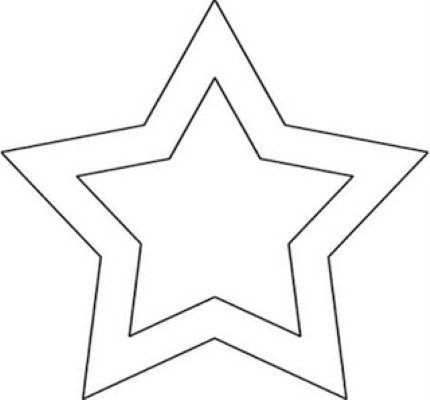 MOLDE ESTRELA Molde de estrela de Natal de EVA