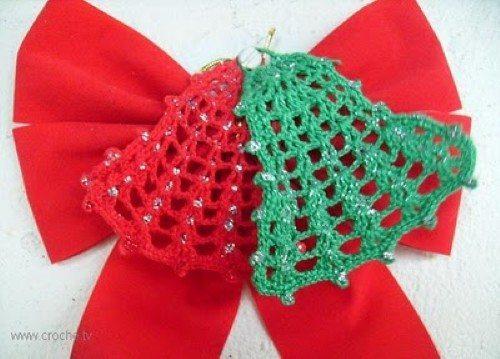 Como Fazer Sino De Natal Em Crochê