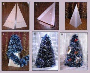 Sugestão de árvore de papelão  (Foto: divulgação).