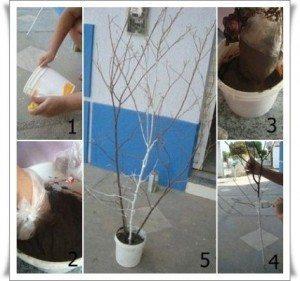 Como criar uma árvore de natal com galhos (Foto: Divulgação).
