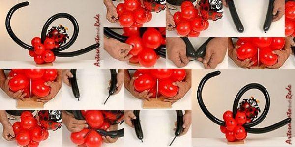 Como fazer joaninha de balão passo a passo