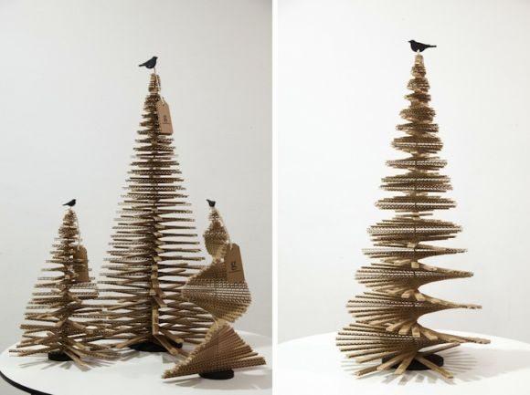 como fazer uma rvore de natal de caixa de papel o. Black Bedroom Furniture Sets. Home Design Ideas