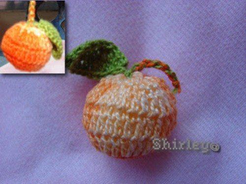 Como fazer laranja de crochê
