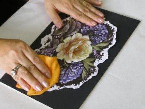 Como criar decoupage com textura (Foto:Divulgação).