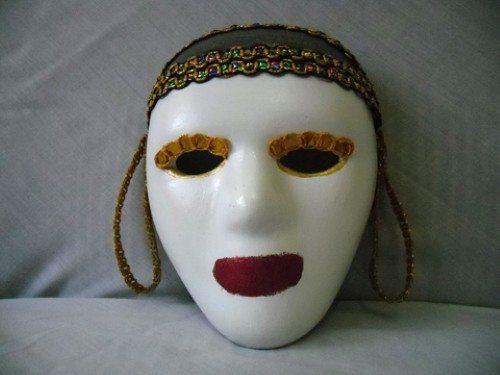 Como fazer máscara de carnaval de Veneza