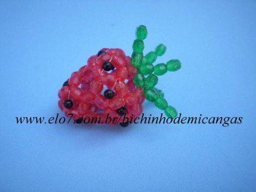Frutas de miçangas passo a passo
