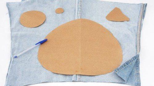 Molde de almofada jeans (Foto:Divulgação)