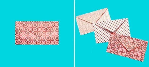 Como fazer envelope de coração  (Foto:Divulgação)