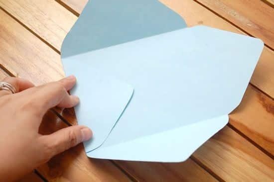 dobradura de envelope