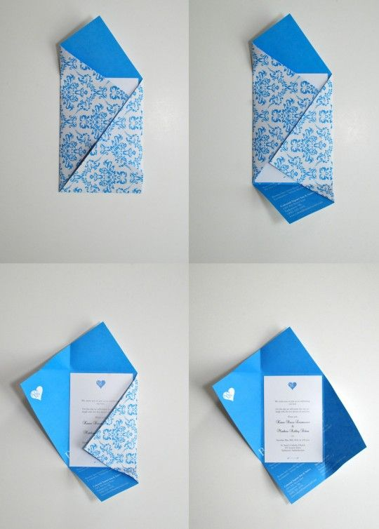 envelope azul
