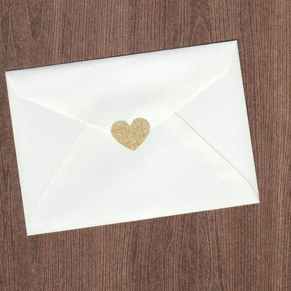envelope com coração