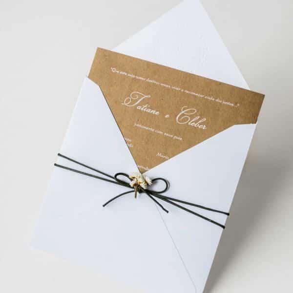 envelope convite de casamento