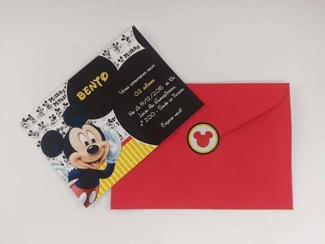 envelope convite infantil