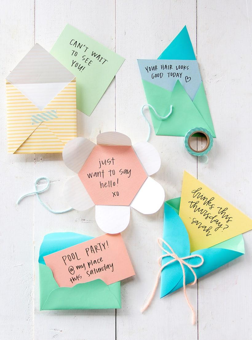 envelopes diferentes prontos