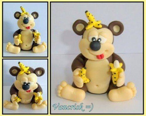 Como fazer macaco de biscuit passo a passo  Artesanato passo a passo!