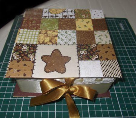 Faça esta caixa de cartonagem para dia das mães e arranque os mais singelos elogios de sua mãe (Foto: Divulgação)
