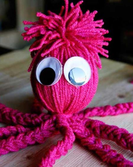 Os bichinhos com fio de lã são fofos e as crianças adoram (Foto: Divulgação)