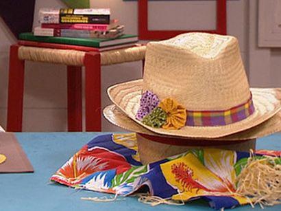 Para decorar um chapéu junino é muito simples e fácil (Foto: Divulgação)