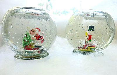 Este simpático globo de neve artesanal é muito lindo e fácil de ser feito (Foto: Divulgação)