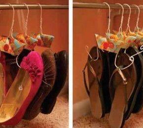 Este simpático e ultraprático cabide para sapatos é muito fácil e rápido de ser feito (Foto: Divulgação)