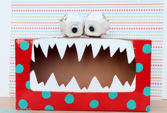 Estes simpáticos monstrinhos feitos com caixa de papel podem divertir as crianças de várias formas (Foto: Divulgação)