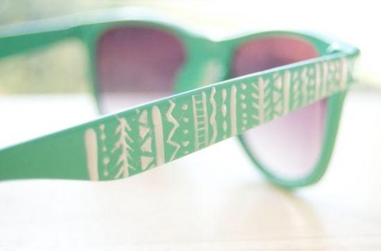 É muito fácil customizar óculos de sol e você pode fazer isso de várias formas (Foto: Divulgação)