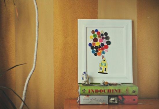 Este quadro de botões irá decorar o quarto de seus pequenos de forma primorosa (Foto: Divulgação)