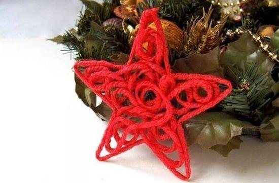 Esta estrela de lã pode ser posicionada em qualquer local, mas sempre fazendo muito sucesso (Foto: Divulgação)