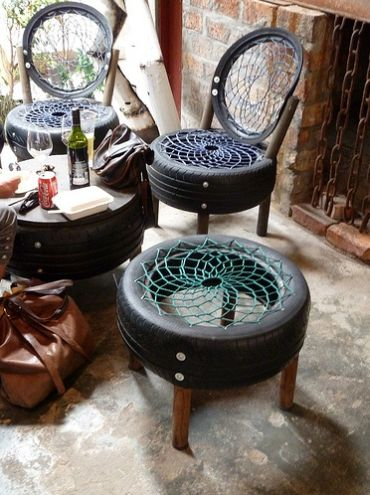 Não é difícil fazer esta cadeira de pneu basta apenas um pouco de habilidade com trabalhos manuais (Foto: Divulgação)