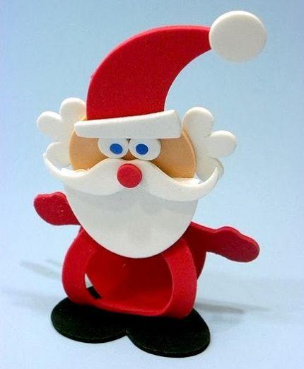 Este porta-bombom de Natal em EVA irá fazer o maior sucesso na decoração de sua casa (Foto: Divulgação)