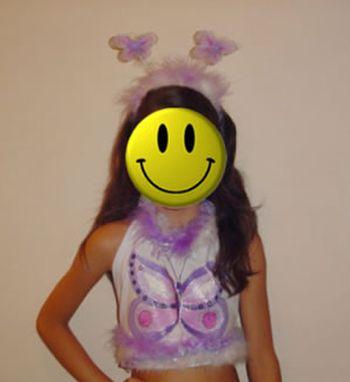 Esta linda camiseta de borboleta para carnaval deixará sua garota encantadora (Foto: Divulgação)