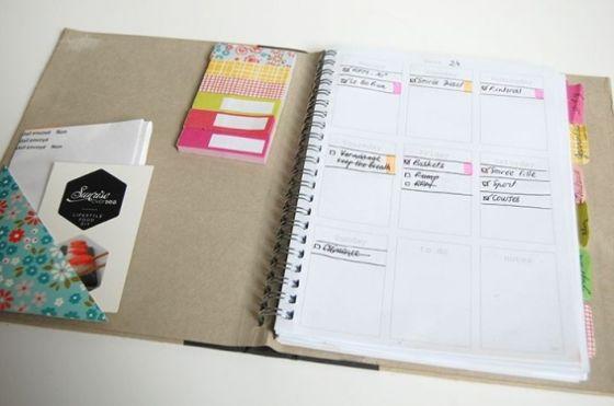 Criando sua agenda 2014 você ainda tem a vantagem de desenvolver uma peça exatamente com as divisórias que você precisa (Foto: Divulgação)