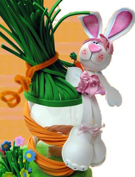 Este coelho da Páscoa 3D de EVA é muito simpático e você pode incorporá-lo em qualquer local (Foto: Divulgação)