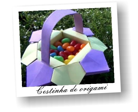Esta cesta de Páscoa de origami deixará a sua Páscoa muito mais divertida, principalmente se você possuir crianças em casa, pois os pequenos adoram dobraduras de papel (Foto: Divulgação)